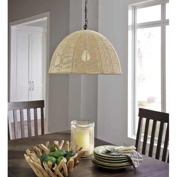 Ergazi 1-Light Bowl Pendant by Bay Isle Home