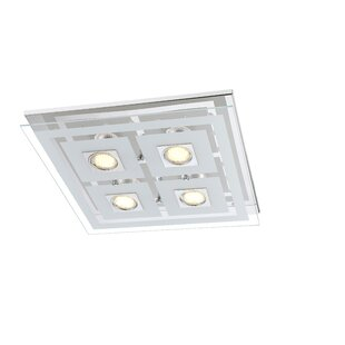 Square bathroom ceiling lights wayfair zoe led ceiling light mozeypictures Gallery