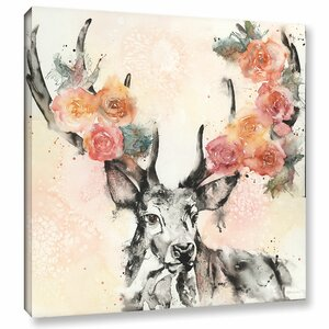 Everything Is Coming up Roses Painting Print on Wrapped Canvas by Bungalow Rose