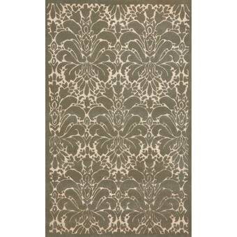 Darby Home Co Archambault Floral Handmade Tufted Wool Beige Area Rug Reviews Wayfair