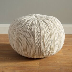 Gilmour Hand Knitted Traditional Pouf Ottoman by Three Posts
