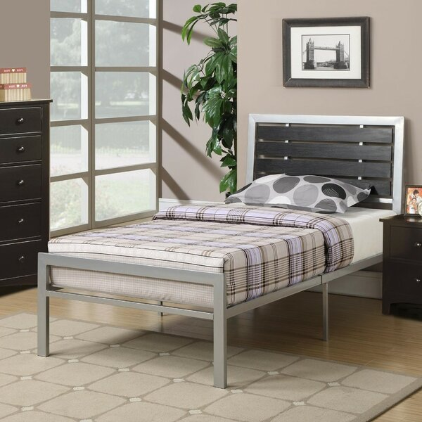 Paramore Metal Twin Standard Bed by Winston Porter