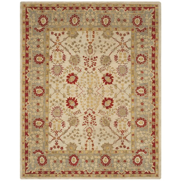 Anatolia Ivory/Red Area Rug by Safavieh