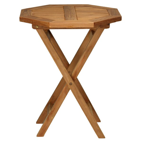 RJ Outdoor Teak Folding Bistro Table by Highland Dunes