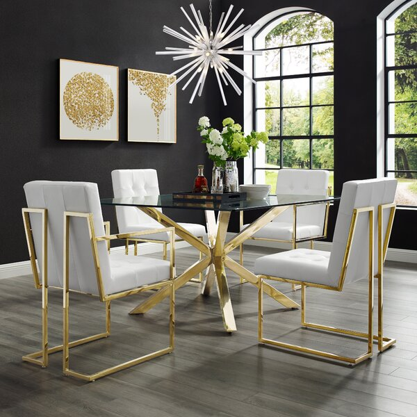 Bellamy Chrome Arm chair (Set of 2) by Everly Quinn