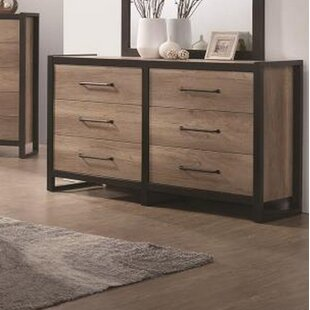 Thedford 6 Drawer Double Dresser by Union Rustic
