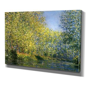 Bend in the River by Claude Monet Print of Painting on Wrapped Canvas by Wexford Home