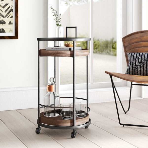 Thrasher Serving Bar Cart by Mistana