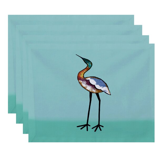 Oakley Bird Placemat (Set of 4) by Rosecliff Heights
