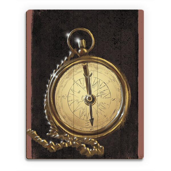 Copper Compass Graphic Art on Canvas by Click Wall Art