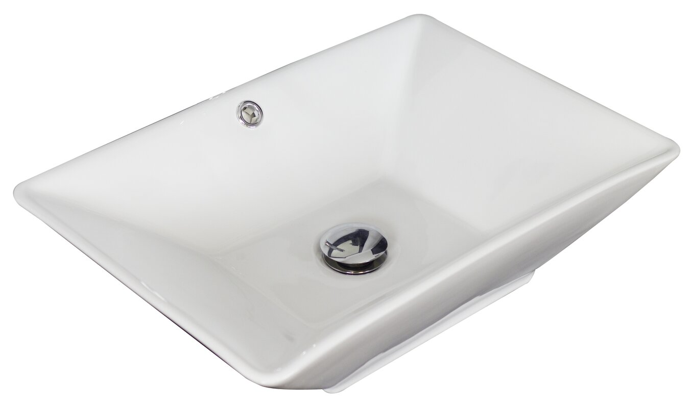 rectangular vessel bathroom sink american imaginations ceramic rectangular vessel bathroom 20123