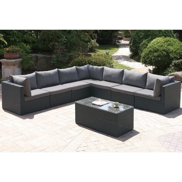 Wapato 8 Piece Sectional Seating Group with Cushions by Brayden Studio