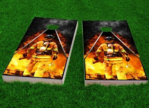 Firefighter Cornhole Game (Set of 2) by Custom Cornhole Boards