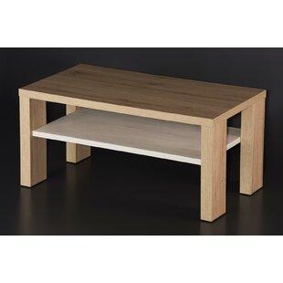 Aurand Wood Coffee Table with Shelf Latitude Run
