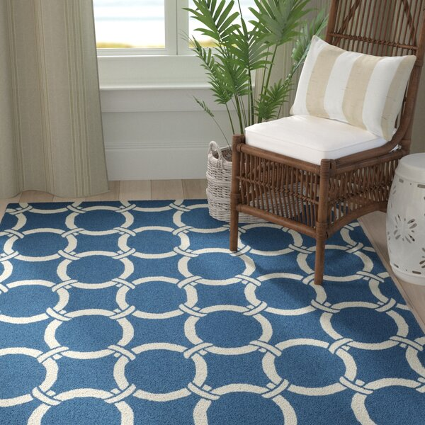 Hadriana Navy/Ivory Area Rug by Highland Dunes
