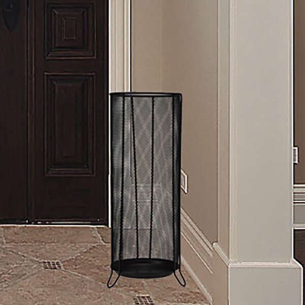 Black Metal Mesh Umbrella Stand by Ebern Designs