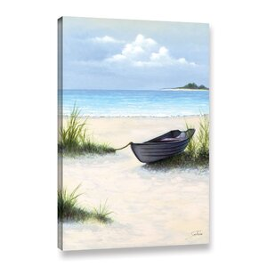 'North Point Beach' Painting Print on Wrapped Canvas by Highland Dunes