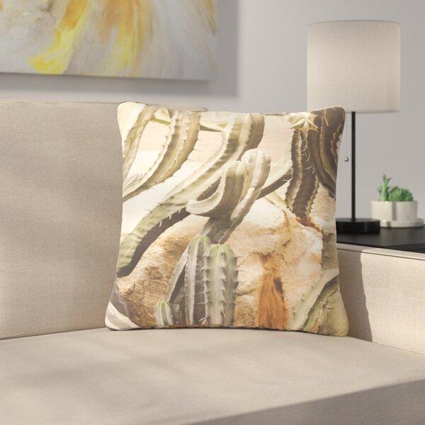 Ann Barnes Cactus Jungle Outdoor Throw Pillow by East Urban Home
