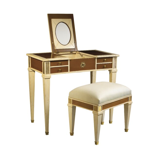 French heritage parc saint germain vanity set with mirror for Albany st germain sectional sofa chaise