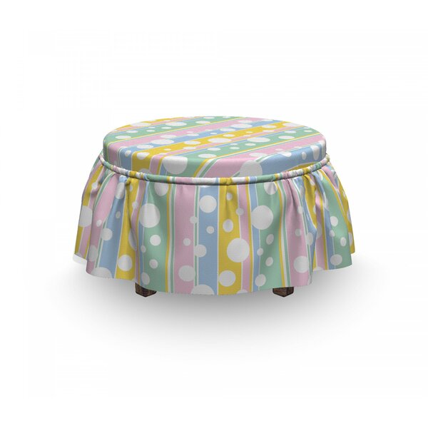 Stripes Ottoman Slipcover (Set Of 2) By East Urban Home