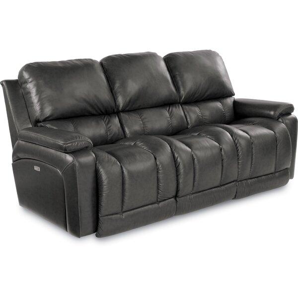 Greyson Leather Reclining Sofa by La-Z-Boy