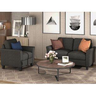 Aldayr 2 Piece Standard Living Room Set by Red Barrel Studio®