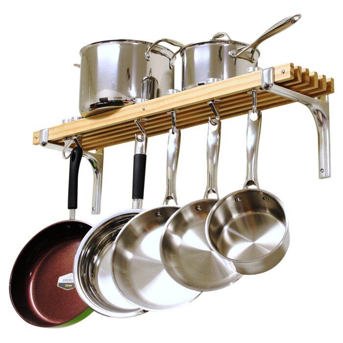 Wall Hanging Pot Rack rebrilliant wall mounted pot rack & reviews | wayfair
