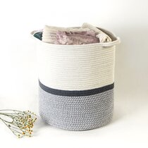 2 hand-picked basket in cotton cord