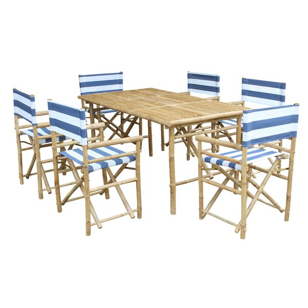 Diesel 7 Piece Solid Wood Dining Set by Bay Isle Home