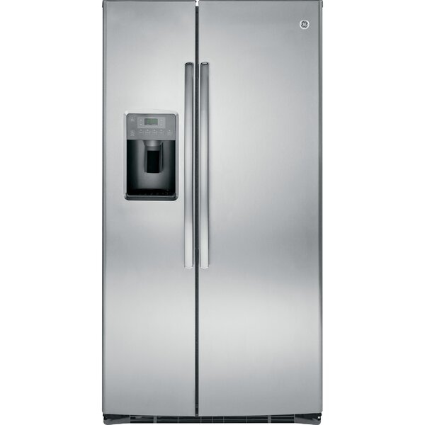 25.3 cu. ft. Energy Star® Side-by-Side Refrigerator by GE Appliances