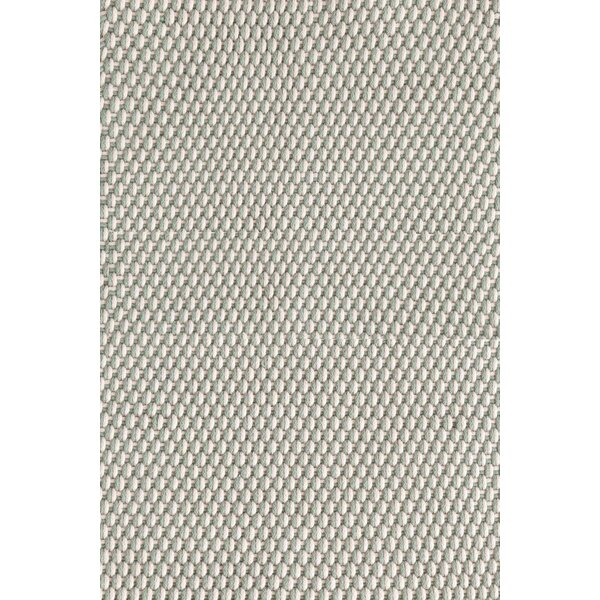 Two-Tone Rope Geometric Hand-Braided Light Blue/Ivory Indoor / Outdoor Area Rug by Dash and Albert Rugs Dash and Albert Rugs
