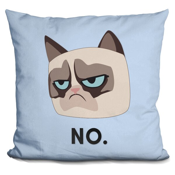 No Grumpy Cat Throw Pillow by LiLiPi