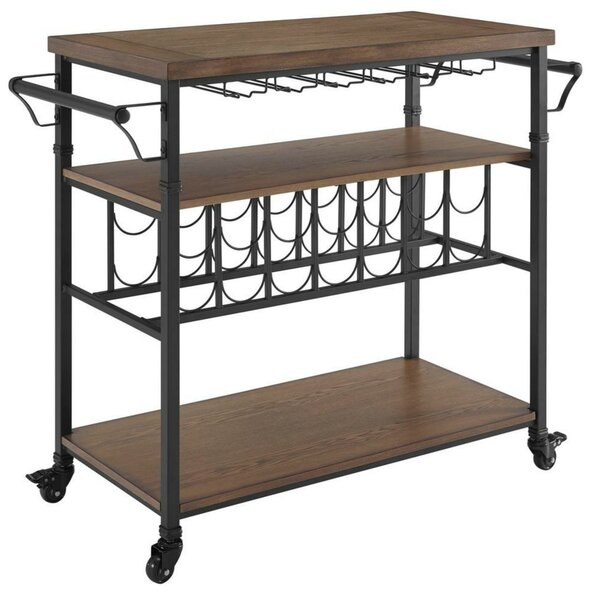 Buckhead Wooden 28 Bottle Floor Wine Bottle and Glass Rack by Gracie Oaks Gracie Oaks