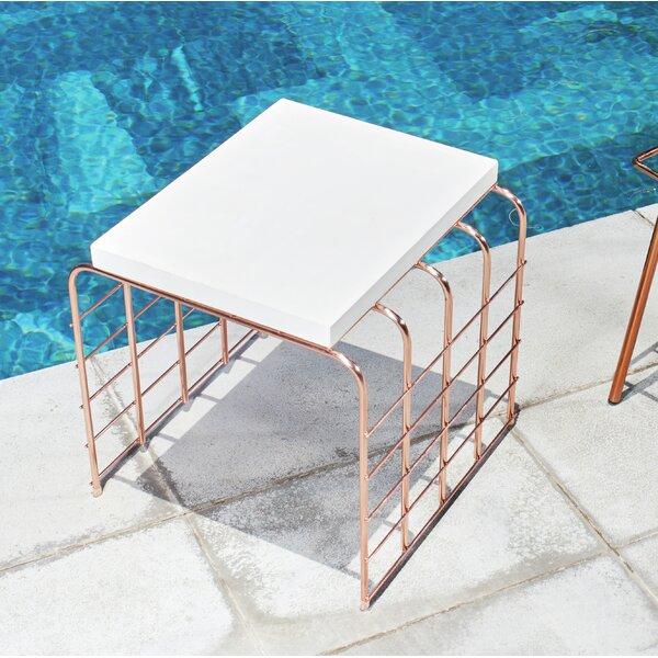 Mesh Concrete Side Table by Seasonal Living