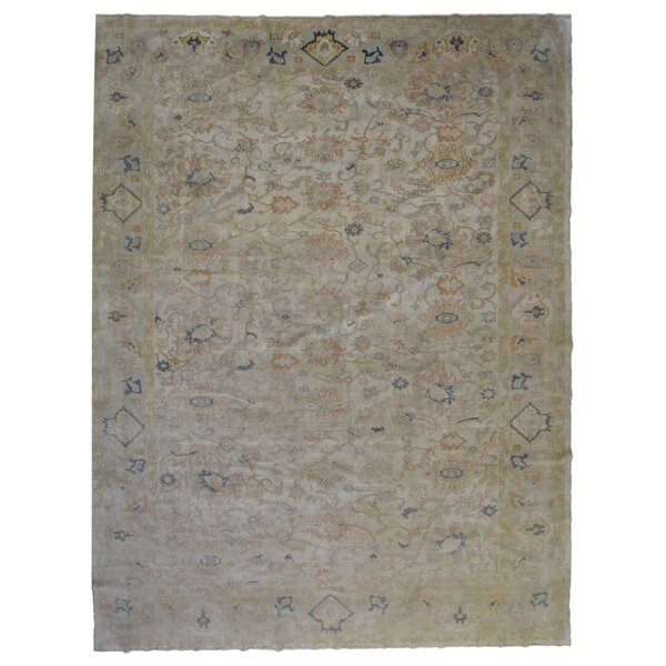 One-of-a-Kind Quijada Hand-Knotted Gray 11'2 x 13'9 Wool Area Rug