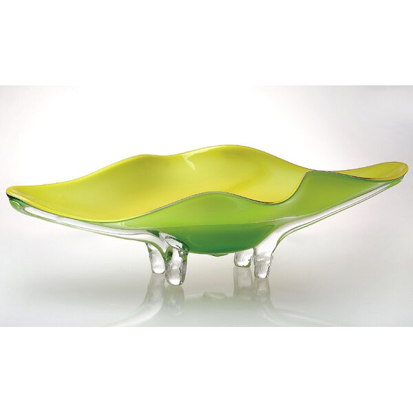Art Glass Tabletop Platter by Viz Glass
