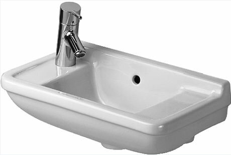 Starck 3 Ceramic 20 Wall Mount Bathroom Sink with Overflow by Duravit