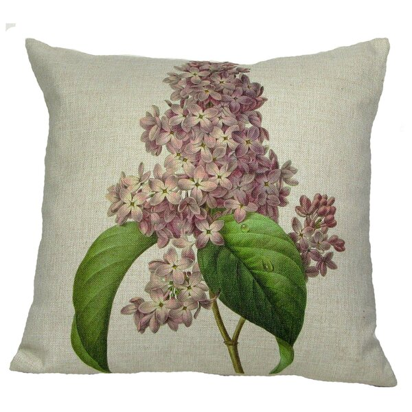 Pink Lilac Throw Pillow by Golden Hill Studio