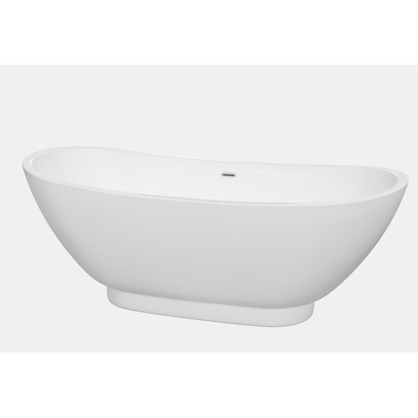 Clara 69 x 29.5 Soaking Bathtub by Wyndham Collection
