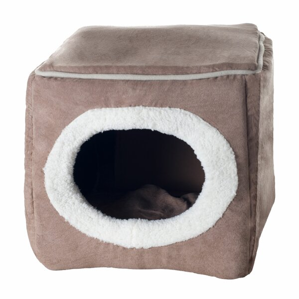 Roberta Cozy Cave Enclosed Cube Cat Bed by Tucker Murphy Pet
