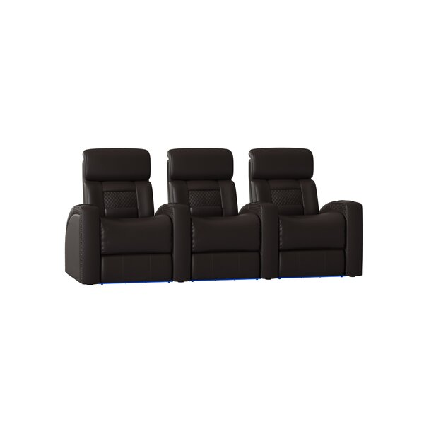 Diamond Stitch Home Theater Row Seating (Row Of 3) By Latitude Run
