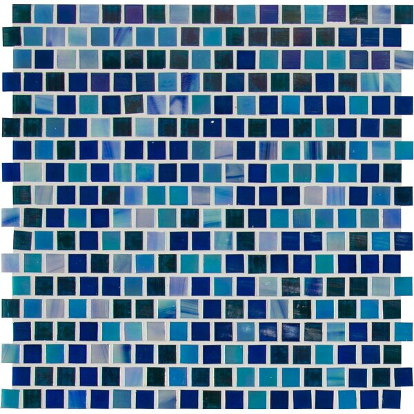 Opaque 0.6 x 0.6 Glass Mosaic Tile in Blue by MSI