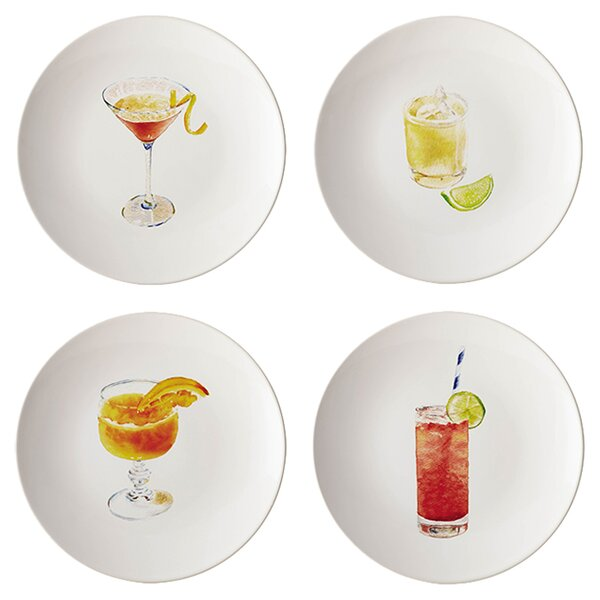 Rachel Ray Dinnerware Cocktails 8.25 Salad Plate (Set of 4) by Rachael Ray