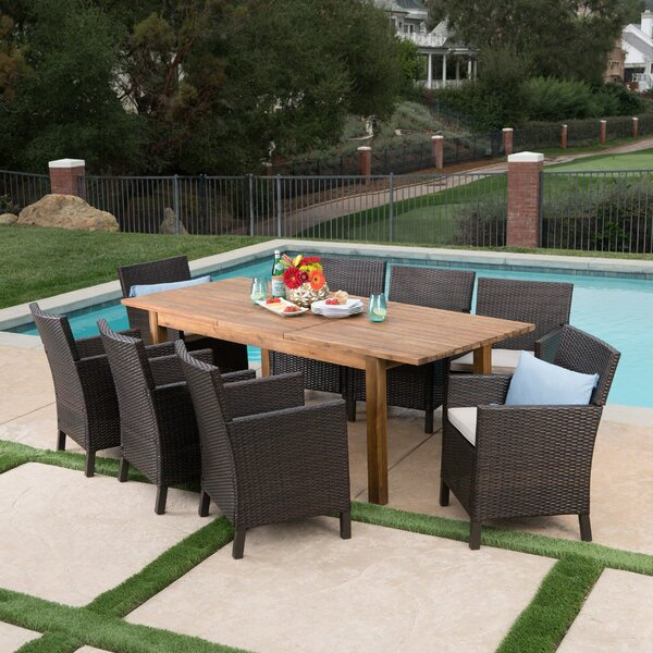 Labrosse 9 Piece Extendable Dining Set With Cushions By Laurel Foundry Modern Farmhouse