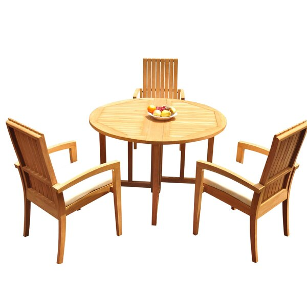 Wilkerson 4 Piece Teak Dining Set By Bayou Breeze by Bayou Breeze Best #1