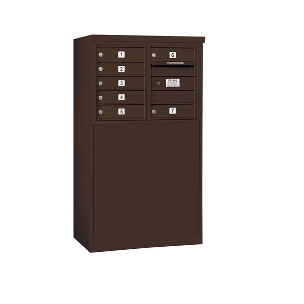 Freestanding Private 8 Door Front Load 4C Horizontal Mail Center by Salsbury Industries