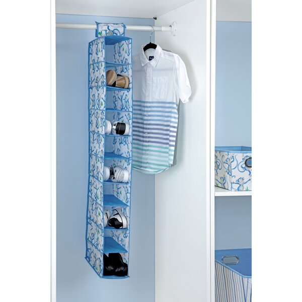 Cheeky Monkey 10 Pair Hanging Shoe Organizer by Laura Ashley Home