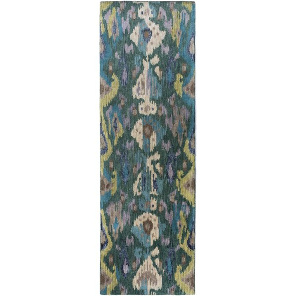 Bower Teal Ikat/Suzani Area Rug by Bungalow Rose