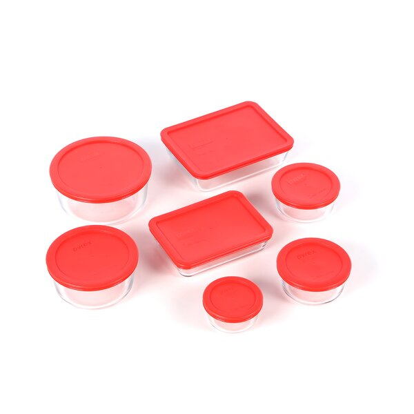 Bakeware 7 Container Food Storage Set by Pyrex