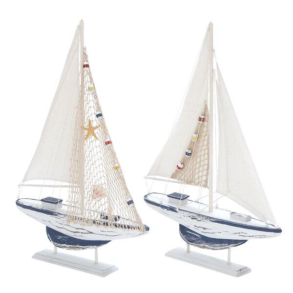 Wood Model Sailing Boat Set (Set of 2) by Cole & Grey